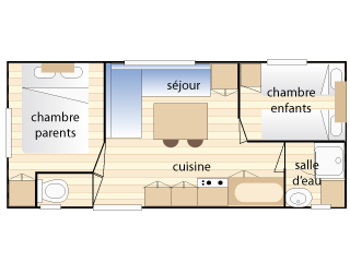 Plan du mobil-home Mercure.